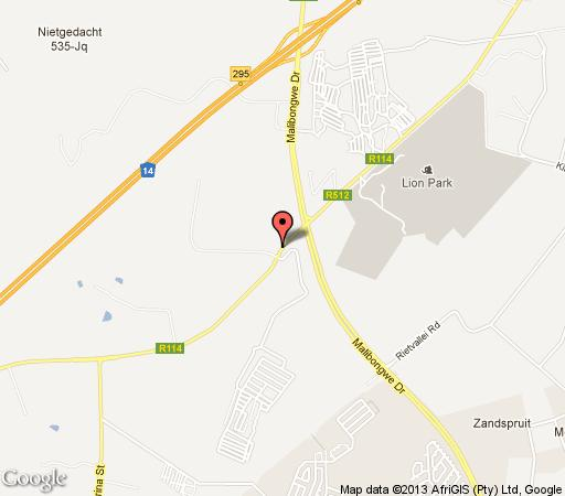 Map La Vue Guesthouse  in Muldersdrift  West Rand  Gauteng  South Africa