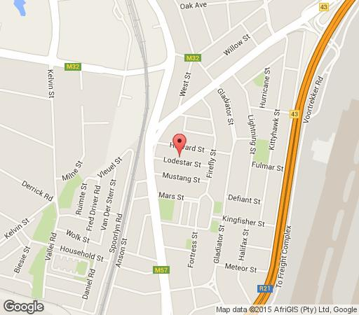 Map Doeny Lodge in Kempton Park  Ekurhuleni (East Rand)  Gauteng  South Africa