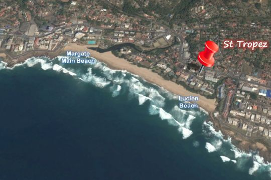 Map 202 St Tropez in Manaba Beach  South Coast (KZN)  KwaZulu Natal  South Africa