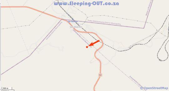 Map Oban Guest Farm in Van Reenens Pass  Battlefields  KwaZulu Natal  Suid-Afrika