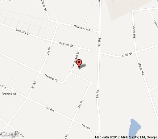 Map Sarabi Country Lodge & Guest Houses in Kempton Park  Ekurhuleni (East Rand)  Gauteng  South Africa