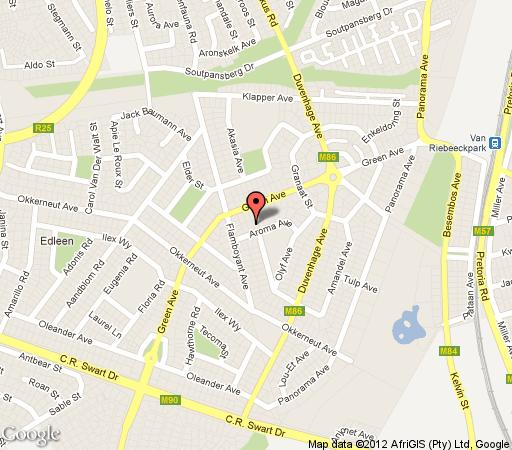 Map Aroma Africa in Kempton Park  Ekurhuleni (East Rand)  Gauteng  South Africa