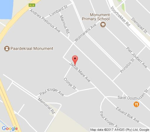 Map Amberlight Guest Accommodation in Krugersdorp Central  Krugersdorp  West Rand  Gauteng  South Africa