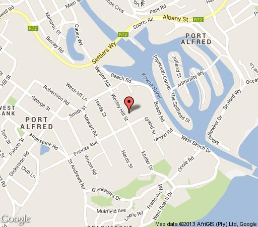Map Richmond House Cottages in Port Alfred  Cacadu (Sarah Baartman)  Eastern Cape  South Africa