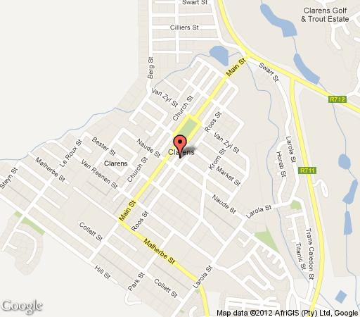Map Highland View in Clarens  Thabo Mofutsanyana  Free State  South Africa