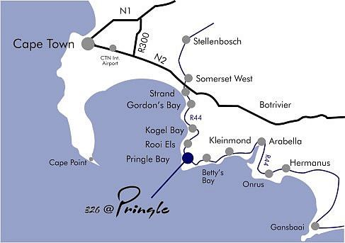 Map 326 @ Pringle, Luxury Guest House in Pringle Bay  Overberg  Western Cape  South Africa