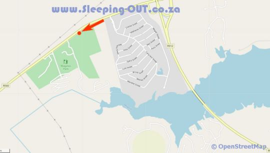 Map Browns Cabin and Cottages in Hartbeespoort  Bojanala  North West  South Africa
