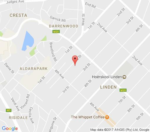 Map Linden Place Guest House in Linden  Northcliff/Rosebank  Johannesburg  Gauteng  South Africa