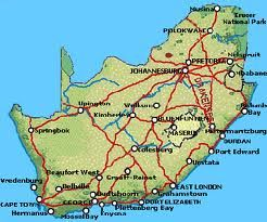 Map Safari Park in Colesberg  Upper Karoo  Northern Cape  South Africa