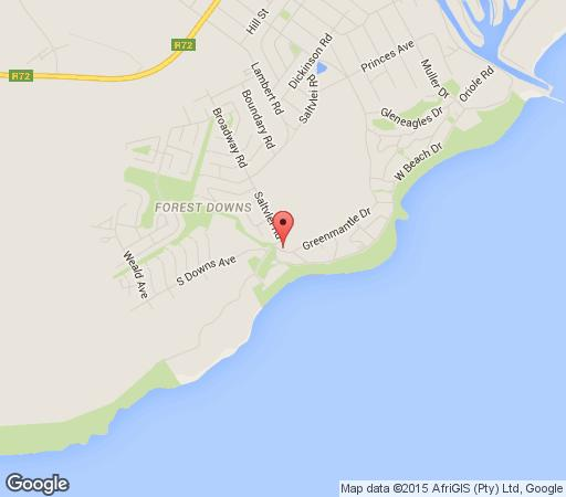 Map Sand Castle Beach House in Port Alfred  Cacadu (Sarah Baartman)  Eastern Cape  South Africa