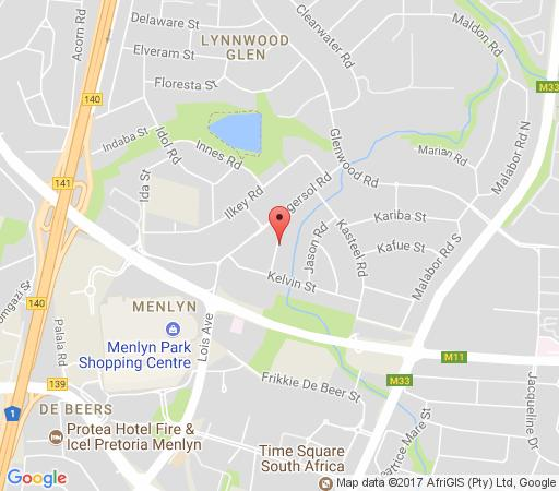 Map Wild Peach Inn in Lynnwood Glen  Pretoria East  Pretoria / Tshwane  Gauteng  South Africa