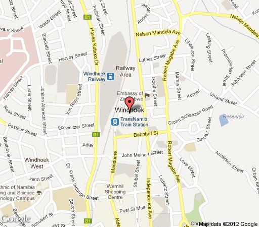 Map Naankuse Lodge in Windhoek  Khomas  Namibia