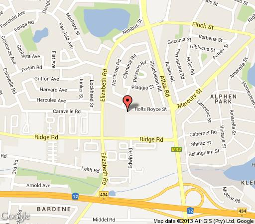 Map Rolls Royce Guesthouse in Boksburg  Ekurhuleni (East Rand)  Gauteng  South Africa