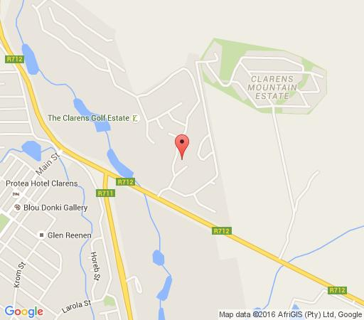 Map The Clarens Country House in Clarens  Thabo Mofutsanyana  Free State  South Africa