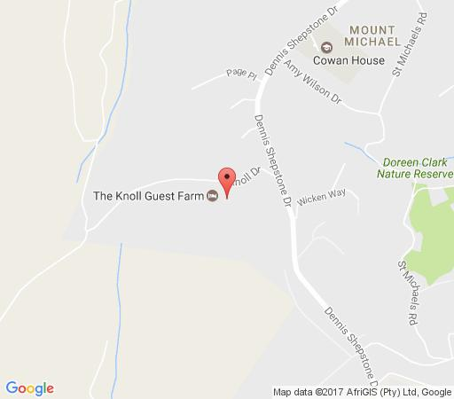 Map The Knoll Guest Farm  in Hilton  Pietermaritzburg  Midlands  KwaZulu Natal  South Africa