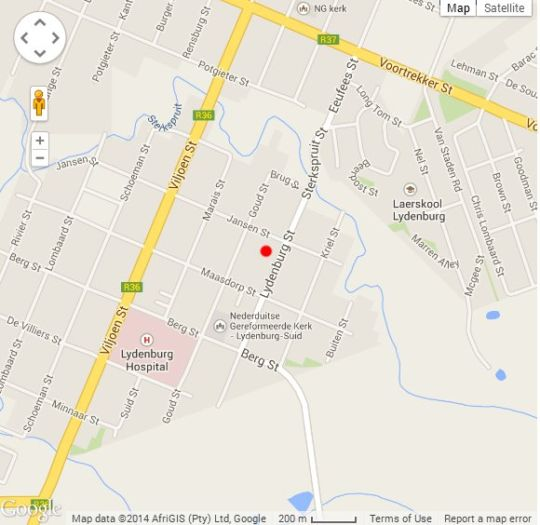 Map The Palms Boutique Hotel in Lydenburg  Highlands  Mpumalanga  South Africa