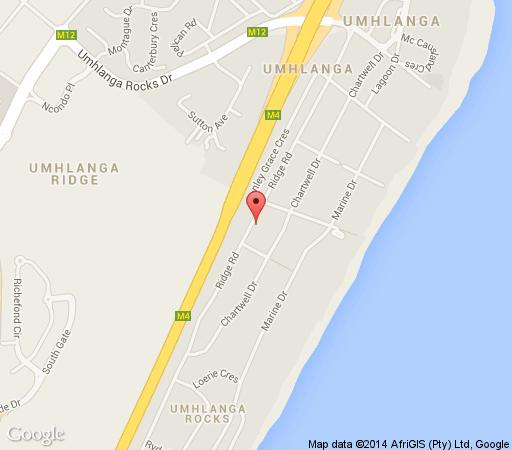 Map Ridgesea Guest House in Umhlanga Rocks  Umhlanga  Northern Suburbs (DBN)  Durban and Surrounds  South Africa