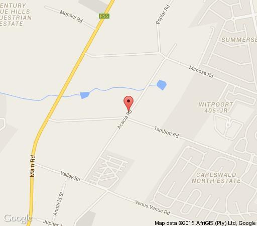 Map Blue Hills Lodge in Blue Hills  Midrand  Johannesburg  Gauteng  South Africa
