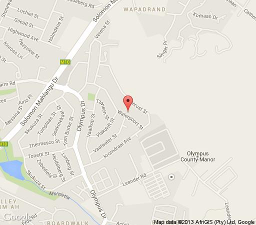 Map East View  in Faerie Glen  Pretoria East  Pretoria / Tshwane  Gauteng  South Africa
