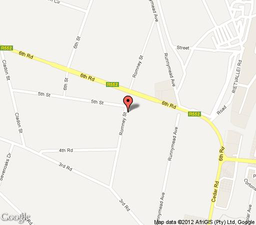 Map Hoyohoyo Chartwell Lodge in Fourways  Sandton  Johannesburg  Gauteng  South Africa