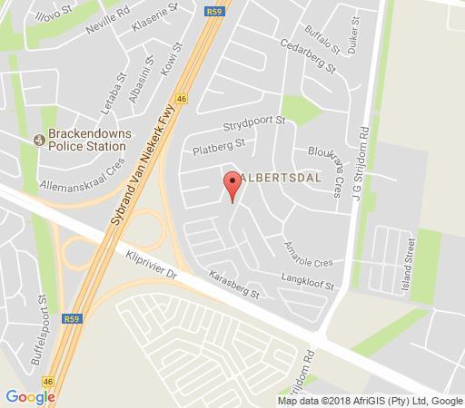 Map Olive Garden Rendezvous Guesthouse in Brackenhurst  Alberton  Ekurhuleni (East Rand)  Gauteng  South Africa