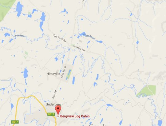 Map Bergview in Underberg  Southern Drakensberg  Drakensberg (KZN)  KwaZulu Natal  South Africa