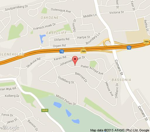 Map Moloko Guest House in Bassonia  Johannesburg South  Johannesburg  Gauteng  South Africa
