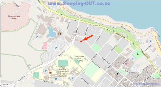Map Onse Khaya Lodging & Conferencing in Summerstrand  Port Elizabeth  Cacadu (Sarah Baartman)  Eastern Cape  South Africa