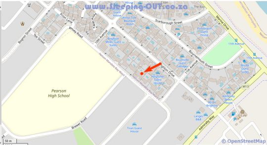 Map Jenvey House BnB in Summerstrand  Port Elizabeth  Cacadu (Sarah Baartman)  Eastern Cape  South Africa