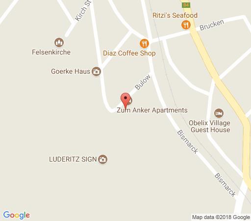 Map Zum Anker in Luderitz  Karas  Namibia