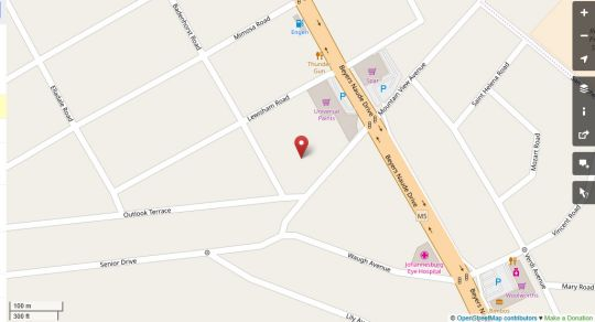 Map Mountain View Guest House in Blackheath  Northcliff/Rosebank  Johannesburg  Gauteng  South Africa
