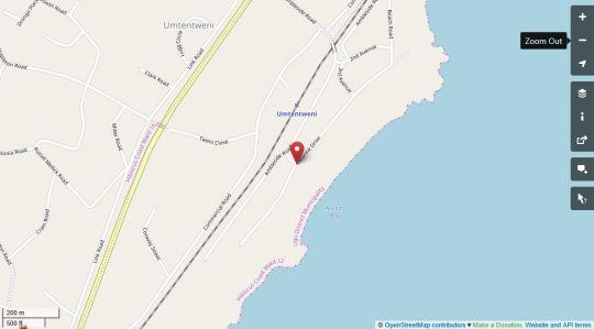 Map Ambleside East Wing in Umtentweni  South Coast (KZN)  KwaZulu Natal  Suid-Afrika