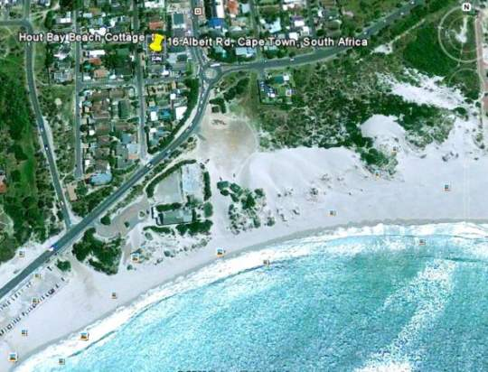 Map Hout Bay Beach Cottage in Hout Bay  Atlantic Seaboard  Cape Town  Western Cape  South Africa
