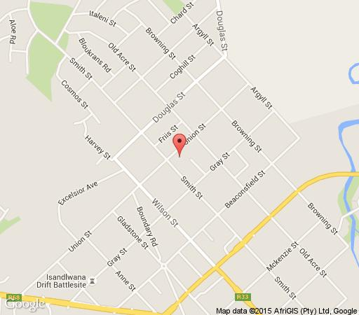 Map Tranquil Guest House in Dundee  Battlefields  KwaZulu Natal  South Africa