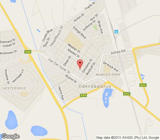 Map Rialin Guesthouse in Odendaalsrus  Lejweleputswa  Free State  South Africa