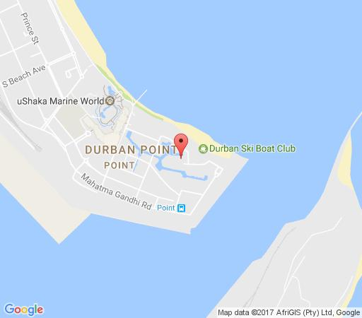 Map Quayside on Timeball in Point Waterfront  Durban  Durban and Surrounds  KwaZulu Natal  Suid-Afrika