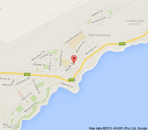 Map Whale Coast Hotel in Hermanus  Overberg  Western Cape  South Africa