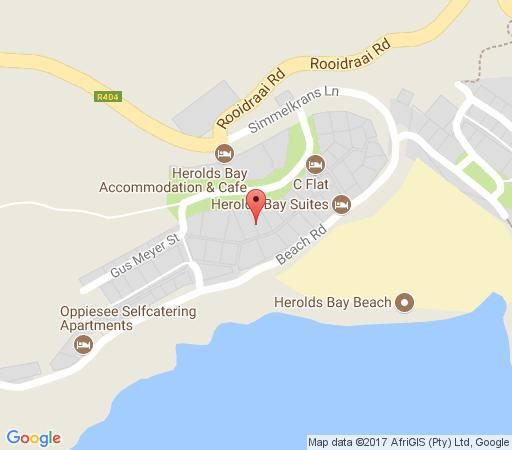 Map Dankepa Beach House in Herold's Bay  Garden Route  Western Cape  South Africa