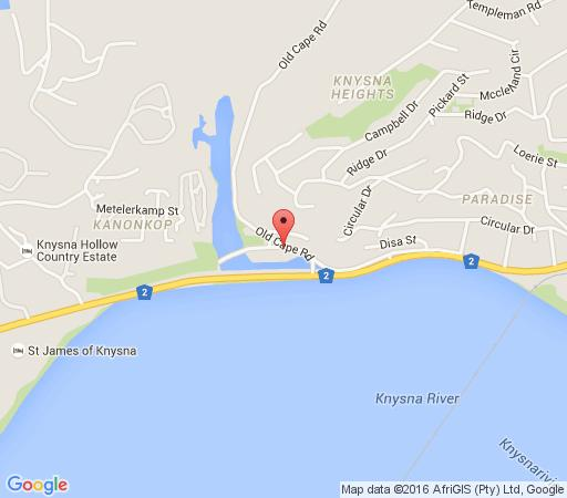Map Salt River Lodge in Knysna  Garden Route  Western Cape  South Africa