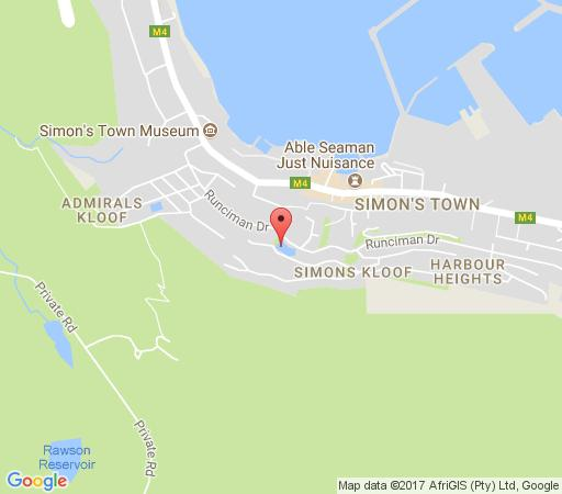 Map A Boat House in Simon's Town  False Bay  Cape Town  Western Cape  South Africa