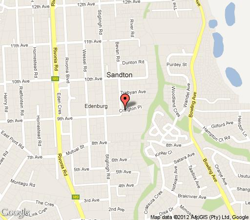 Map Acacia Guest House in Rivonia  Sandton  Johannesburg  Gauteng  South Africa