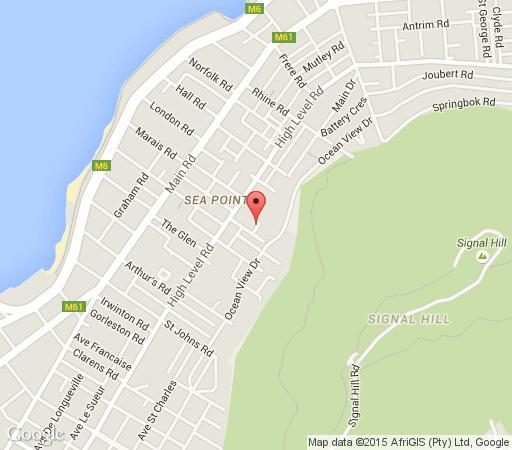 Map Sweet Berries Holiday Houses in Sea Point  Atlantic Seaboard  Cape Town  Western Cape  South Africa