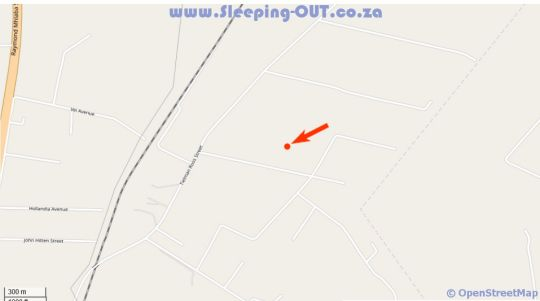 Map Olive Hill Country Lodge in Bloemfontein  Mangaung  Free State  South Africa