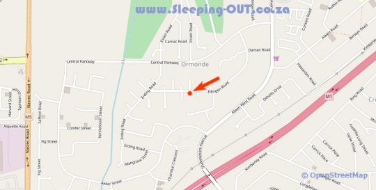 Map Kwa - Bungane Guest House in Ormonde  Johannesburg South  Johannesburg  Gauteng  South Africa
