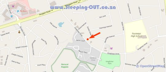 Map 21 Kingfisher Guesthouse in Fourways  Sandton  Johannesburg  Gauteng  South Africa