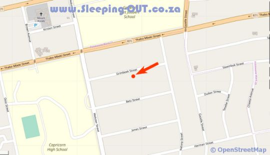Map Danlee Overnight Accommodation in Polokwane  Capricorn  Limpopo  South Africa