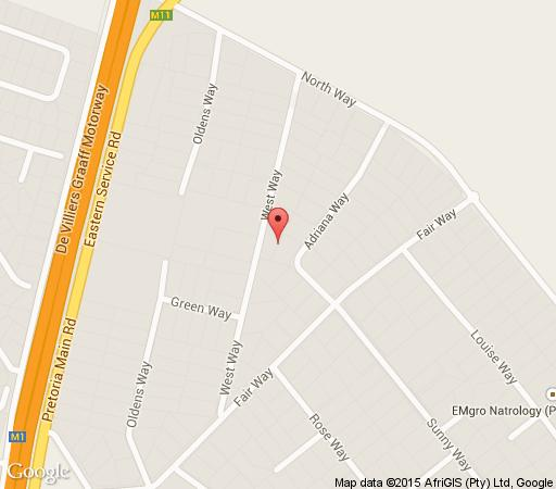 Map Westway Guesthouse in Kelvin  Sandton  Johannesburg  Gauteng  South Africa