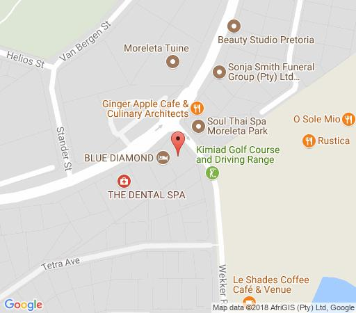 Map Blue Diamond Boutique Hotel in Moreleta Park  Pretoria East  Pretoria / Tshwane  Gauteng  South Africa