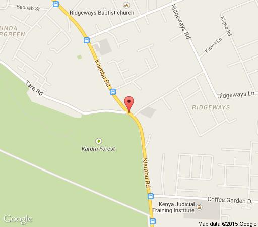 Map Windsor Golf Hotel & Country Club in Nairobi  Kenya