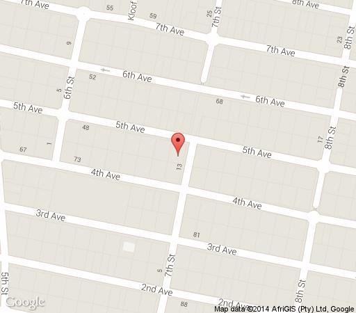 Map Johannesburg Suites Guesthouse in Melville (JHB)  Northcliff/Rosebank  Johannesburg  Gauteng  South Africa